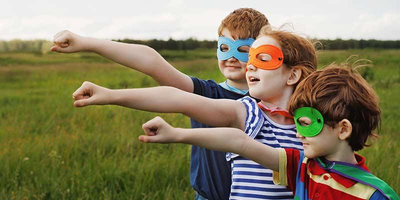 Kinder haben Superkräfte